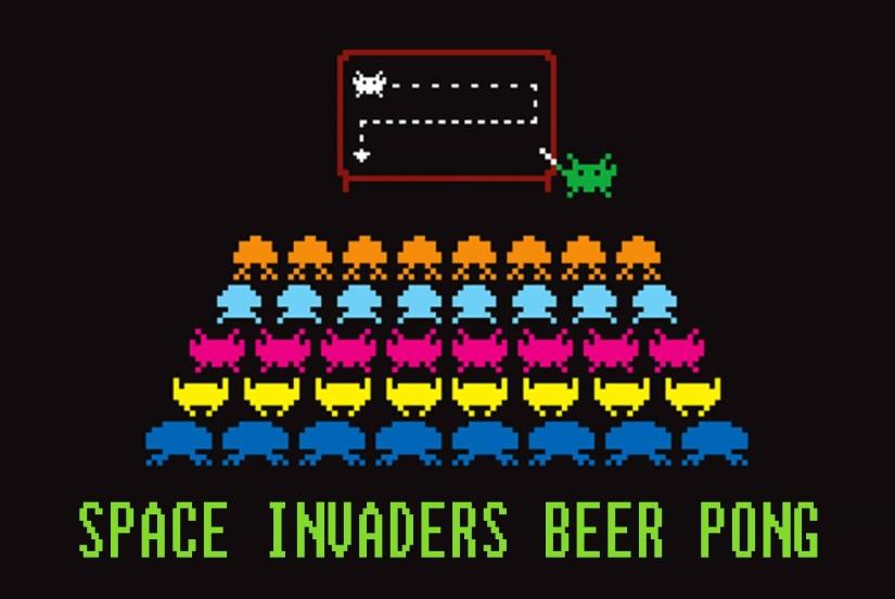 Space Invaders Beer Pong
